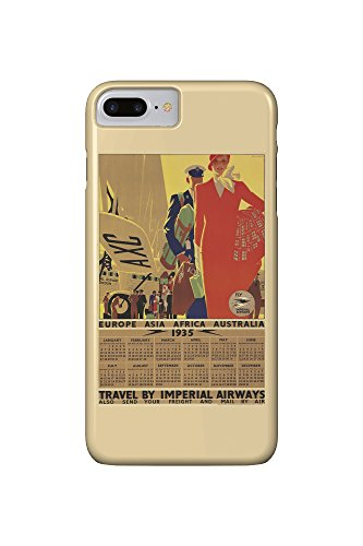 Imperial Airways - 1935 Calendar Vintage Poster (artist: Purvis, Tom) England c. 1934 (iPhone 7 Plus Cell Phone Case, Slim Barely There)
