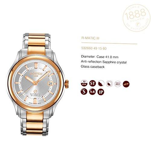 Roamer 532660491560_wt Reloj de pulsera para hombre