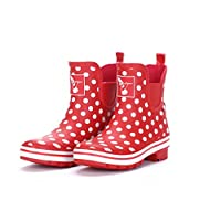 Evercreatures Womens Ankle Wellies - Polka Meadow