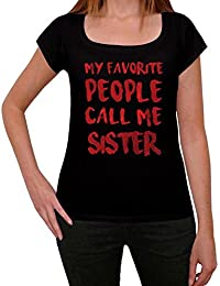 Sister tshirt avec mots t shirt slogan femme cadeau t shirt