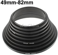 eForChina 49mm-82mm Lens Stepping Ring, Include 8 Lens Stepping Rings