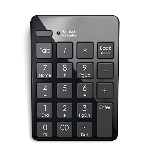 Satechi Portable Bluetooth Wireless 20-Key Keypad Keyboard Extensions for Data Entry in Excel and Numbers for Smartphones, Tablets, Surface Pro, Windows, OSX