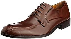 Ruosh Mens Tan Leather Formal Shoes - 7.5 UK/India (41 EU)(8.5 US)