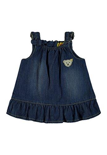 Steiff Collection Mädchen Kleid o. Arm Jeans 6832018, Blau (Dark Blue Denim 0012), 50 (Denim Armee)