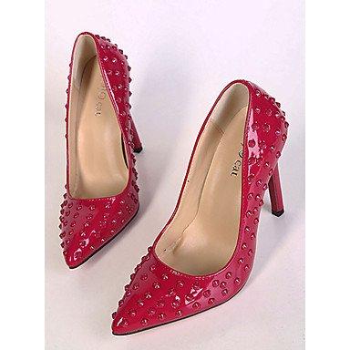 Moda Donna Sandali Sexy donna tacchi tacchi estate pu Casual Stiletto Heel altri nero / rosso altri Red