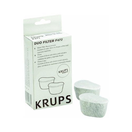 Krups f4720057Duo Filters Water Filtration System for Krups Coffee Makers, 2-pack