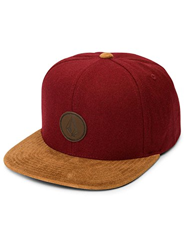 Volcom Herren Cap Quarter Fabric Crimson