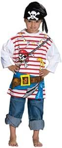 Rubie's 1 2204 128 - Spieleshirt Pirat Kostüm, Größe 128