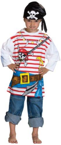 Spieleshirt Pirat Kostüm, Größe 128 ()