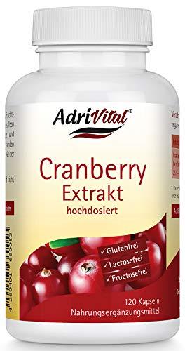 AdriVital Cranberry Kapseln hochdosiert, vegan, glutenfrei, lactosefrei, 120 Kapseln