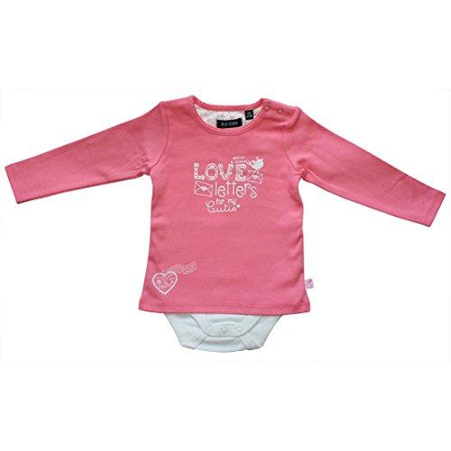 BLUE SEVEN Baby Mädchen Body-Shirt (Kombination aus Shirt und Body) Langarm LOVE LETTERS 481000 (68, LACHS)