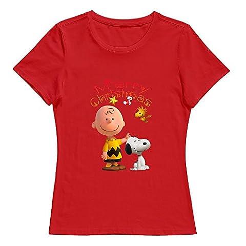 KST Damen T-Shirt Gr. XX-Large, Rot - Rot (Cowboy Christmas-trailer)