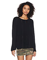 GAP Womens Empire Top (86517920000_True Black V2 2_X-Small)