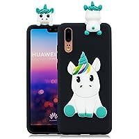 Everainy Huawei P20 Silikon Hülle Ultra Slim 3D Einhorn Muster Ultradünn Hüllen Handyhülle Gummi Case Huawei P20... preisvergleich bei billige-tabletten.eu