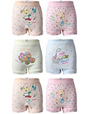 BODYCARE Pure Cotton Printed Multi-Coloured Bloomer for Girls & Kids (320-Packof6)