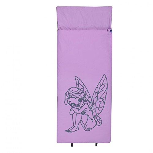10T Kinderschlafsack FAIRY 180x75 XL Deckenschlafsack 300g/m² Fee Elfen Schlafsack Pink / Grau