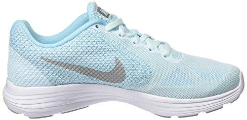 Nike Damen Revolution 3 Laufschuhe Blau (Bleu Glacier Blue/matte Silver-still Blue-wolf)