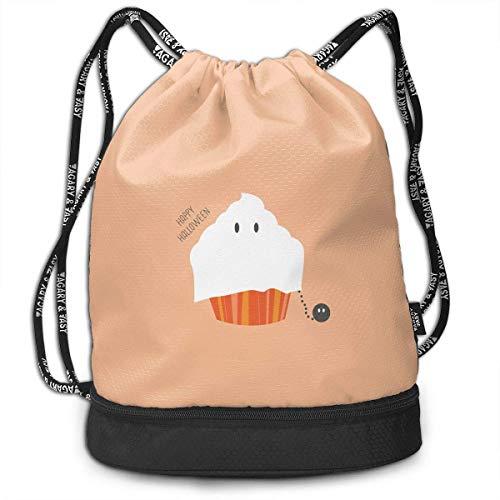 CHSUNHEY Turnbeutel,Sporttaschen,Halloween Icecream Print Lightweight Drawstring Bags Gym Eco-Friendly Luggage Drawstring Backpack Shoulder Bags