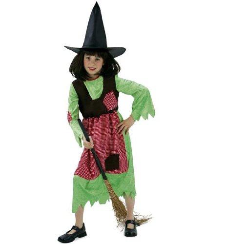 FASCHING 11434 Kinder- Kostüm Hexe Wanda, Kleid, Halloween: Größe: 152 (Hexe Wanda Kostüm)