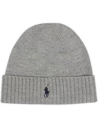 Polo Ralph Lauren Homme Pliez-Over Logo Beanie, Gris