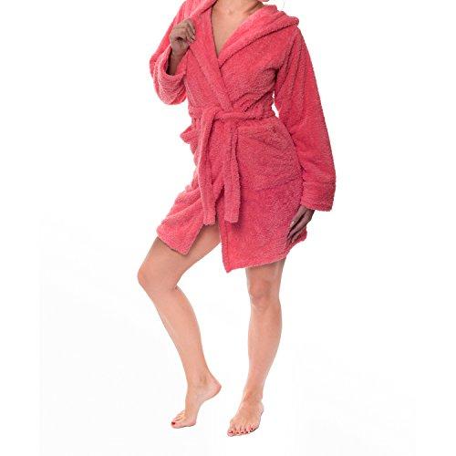 Sophie Bernard, Bridget, accappatoio da bagno e casa, collezione Bath & Home Pensato per il vostro benessere!, Microfibra, gelb, Medium Koralle