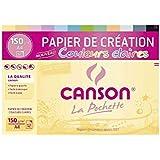 CANSON Pochette 12 feuilles de papier de création A4 150 g Coloris Clairs