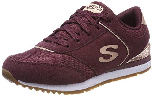 Skechers Damen Sunlite-Revitalization Sneaker, Rot (Burgundy/Rose Gold), 40 EU