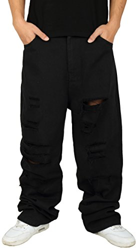 pizoff-men-hip-hop-hipster-style-monochrome-oversized-baggy-jeans-with-extreme-rips-y1761-01-36