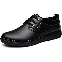 Hombres Formal Zapatos de Cuero auténtico Vestido de Negocios Zapatos Transpirables Primavera Verano Hombres Oxfords