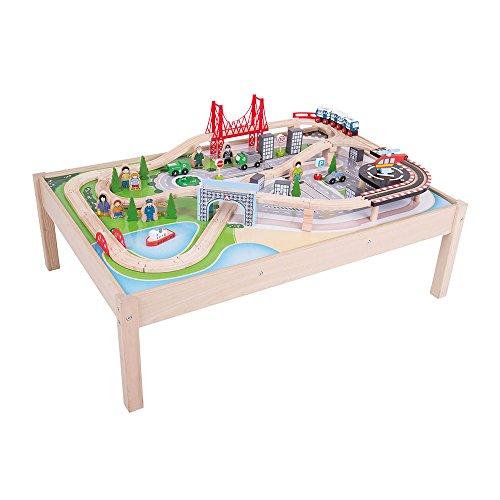 Bigjigs-Table avec Set et Ville de Bois (bibjt045)