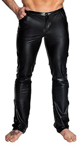 Noir Handmade Clubwear Lange Herren-Hose aus Wetlook Partykleidung Größe L