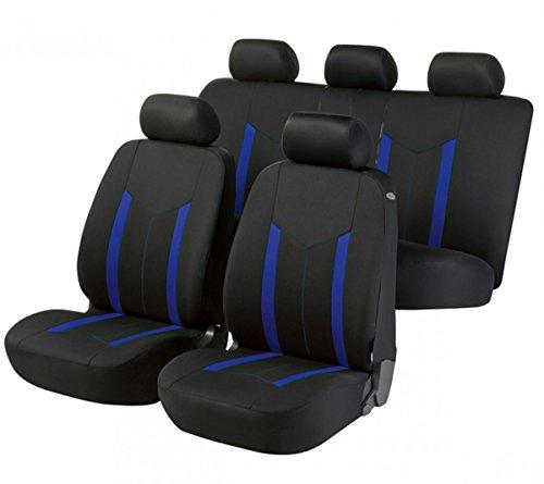Preisvergleich Produktbild Timon 38576,  Sitzbezug Schonbezug Autositzbezug,  Komplett Set,  Schwarz,  Blau