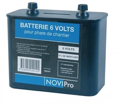 pile porto saline type 825 novipro boitier plastique réf 6v battery - od