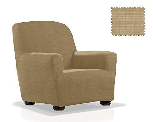 Elastische Sessel-Husse Moraig Größe 1 Sitzer (Von 70 bis 110 cm), Farbe Beig (Mehrere Farben verfügbar)