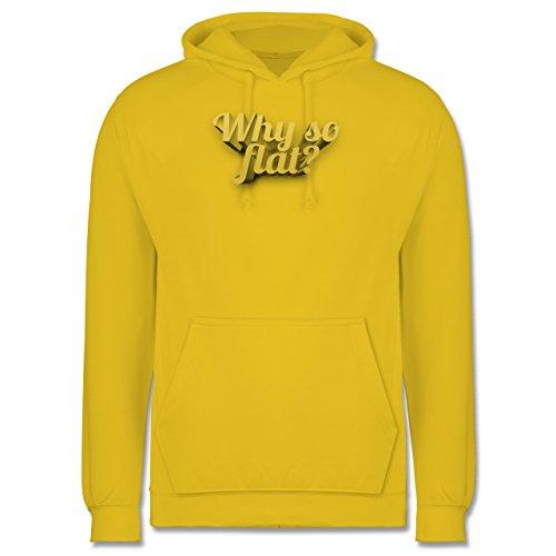 Statement Shirts - Why so flat? - Männer Premium Kapuzenpullover / Hoodie Gelb