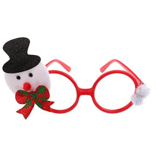 MagiDeal Weihnachten Partybrille Spaßbrille Sonnenbrille Kinder Geschenk, Schneemann Muster - Typ 1