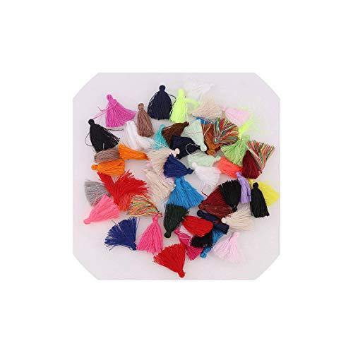 Tassels Mix Color Tassel 10-30Pcs/set DIY Flower Silk Polyester Charms Pendant Drop Earring Tassel Fashion Women Jewelry Bag Accessories,DK833-18 (Duschvorhang Tassel)