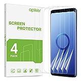apiker [4 Stück TPU Schutzfolie für Samsung Galaxy S9 Plus, Samsung Galaxy S9 Plus TPU Displayschutzfolie, blasenfrei, hohe Definition, hohe Empfindlichkeit