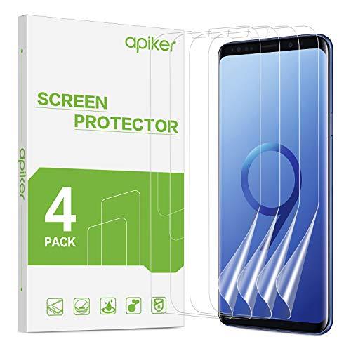 apiker [4 Stück] TPU Schutzfolie für Samsung Galaxy S9 Plus, Samsung Galaxy S9 Plus TPU Displayschutzfolie, blasenfrei, hohe Definition, hohe Empfindlichkeit