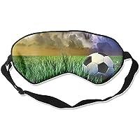 Eye Mask Eyeshade Football On Grassland Sleeping Mask Blindfold Eyepatch Adjustable Head Strap preisvergleich bei billige-tabletten.eu