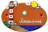 Keramik Türschild 17x12 cm Keramikschild inklusive Wunschgravur, AUSWAHL IN DREI FARBEN, auch als Klingelschild lieferbar