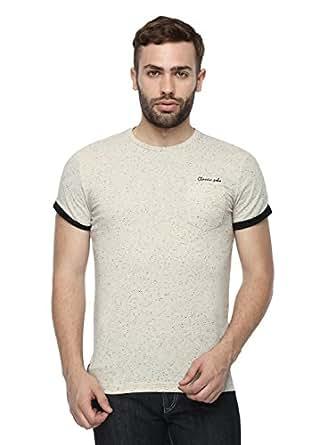 Classic Polo Men's Cotton Round Neck T-Shirt (Black, 2XL)
