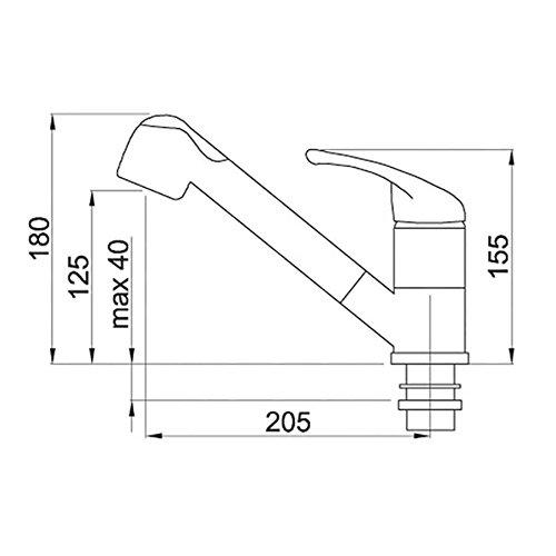 Elleci miscelatore cucina venere foro 35 mm