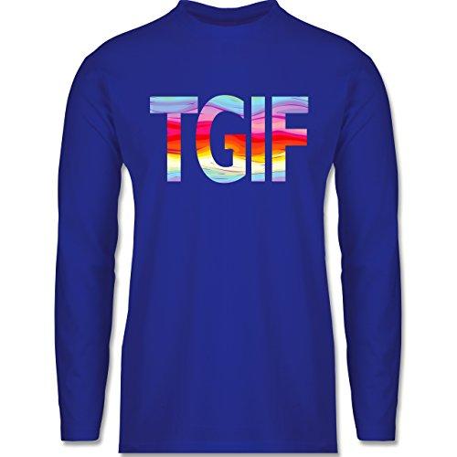 Statement Shirts - Thank god it's friday - Longsleeve / langärmeliges T-Shirt für Herren Royalblau