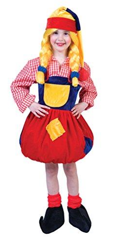 Karneval Klamotten Kostüm Zwerg Mädchen Märchen Karneval Mädchenkostüm Größe (Gnome Kind Kostüm)