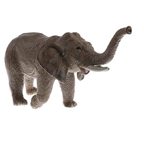 MagiDeal Modelo de Figura de Animal Realista Elefantes Juguete de Plástico Regalo...