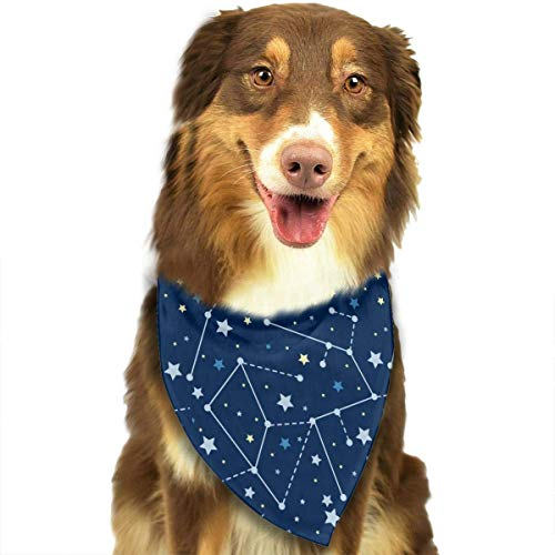 Wfispiy Galaxy Star Fashion Pet Bandanas Dog Car Neck Scarf for Unisex Pet Boy (Children's Christmas Star Kostüm)