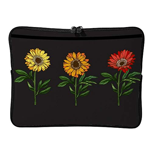 DKISEE Three Hand Drawn Yellow and Red Daisy Flowrs Laptop Sleeve Case Bag Cover Compatible 17 inches Notebook MacBook Air MacBook Pro - Hp-laptop-disney Cover
