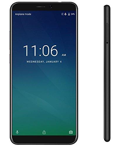 KEECOO P11 - 5,7 Zoll HD (18: 9-Verhältnis Vollanzeige) Android 7.0 4G Smartphone, Gesichtserkennung, Quad-Core 2 GB + 16 GB, 7,8 mm Ultra Slim 5MP + 8MP - Schwarz Entsperren Bei&t-handys