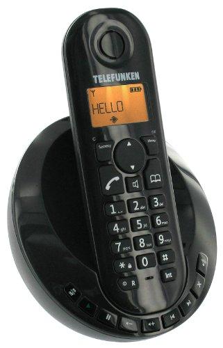 Telefunken Peps 251 Schnurloses, strahlungsarmes DECT-Telefon schwarz